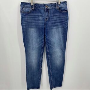 Maurices Skinny Jeans Denim Distressed Size 13/14
